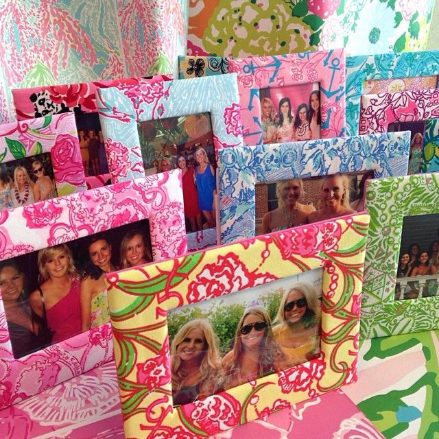 Lilly Pulitzer Sorority Frames- free with any sorority purchase for a limited time