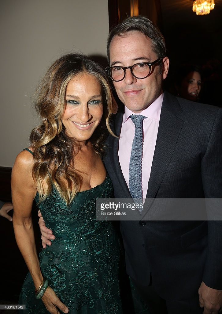 Sarah Jessica Parker and Matthew Broderick attend 'Hamilton' Broadway opening night at Richard Rodgers Theatre on August 6, 2015 in New York City.