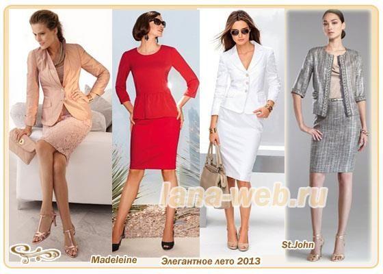 Модные и элегантные летние костюмы для женщин