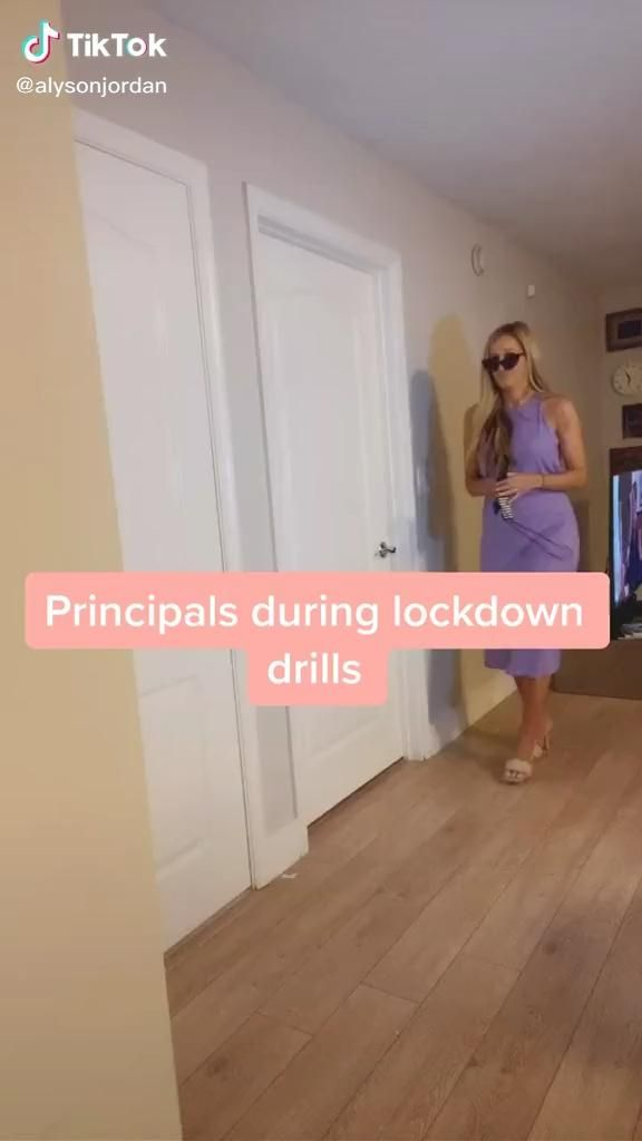 Principles During A Lockdown Drill Video Funny Moments School Humor Funny Short Videos