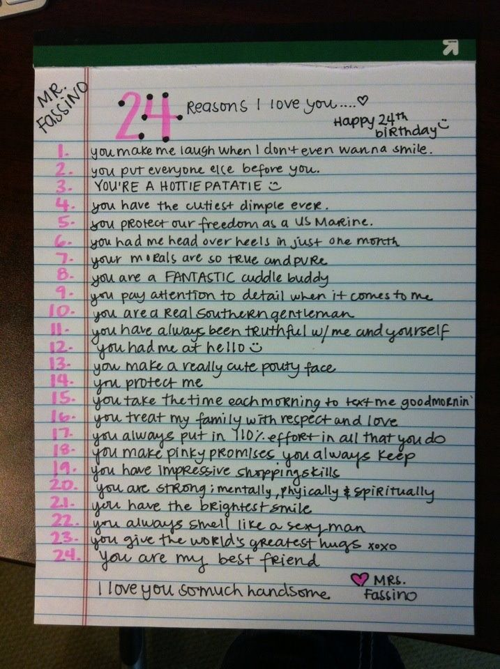 24 Gründe, warum ich den Geburtstagskind liebe   – Quotes