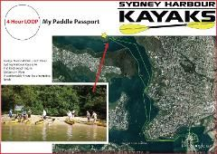 My Paddle Passport - Self Guided Touring - Double Kayaks - Sydney Harbour Kayaks Reservations