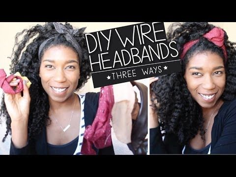 ▶ DIY Wire Headbands + Bun Wire Ties [No Sew] 3 WAYS - YouTube Me - perhaps I could use this method for headcoverings where we won't need pins?