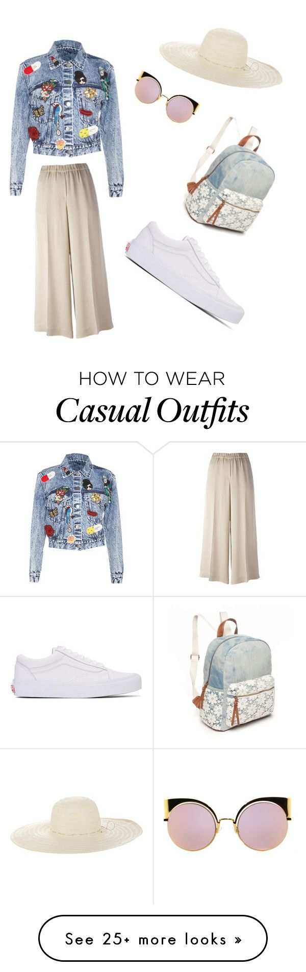 """Casual"" by annacoufal on Polyvore featuring Alice + Olivia, Fendi, Theory, Vans, Jennifer Ouellette and Red Camel"