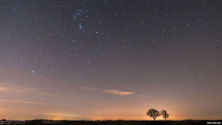 The Geminids meteor shower, UK December