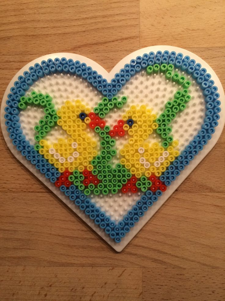 Easter heart hama perler beads by Julie Loose