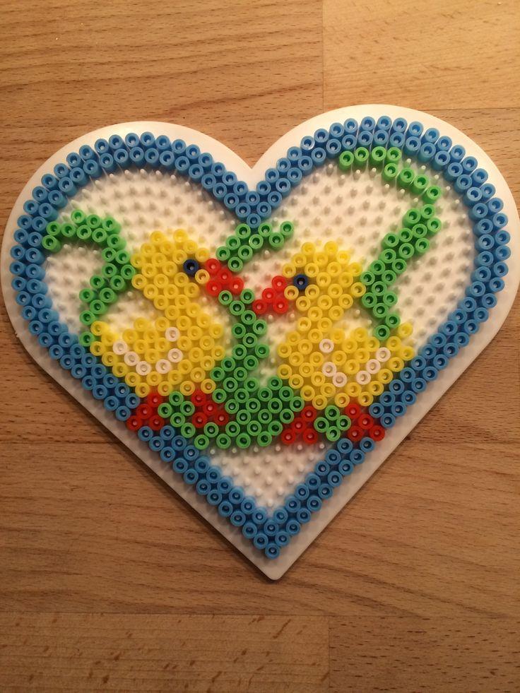 Easter heart hama perler beads by Julie Loose
