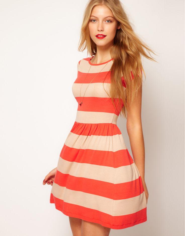 Wide Stripe Dress / ASOS