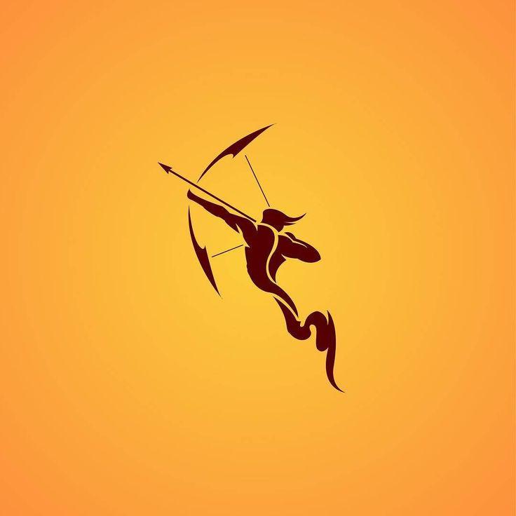 Sagittarius  #illustration #graphicdesign #design #logo #sagittarius #zodiac…