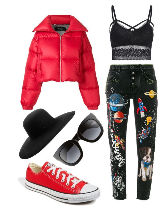 """Untitled #204"" by zsofi-szibilla on Polyvore featuring MISBHV, Dolce&Gabbana, Converse, Maison Michel and Gucci"