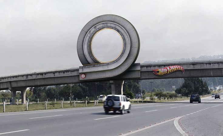 Hot Wheels billboard by Ogilvy