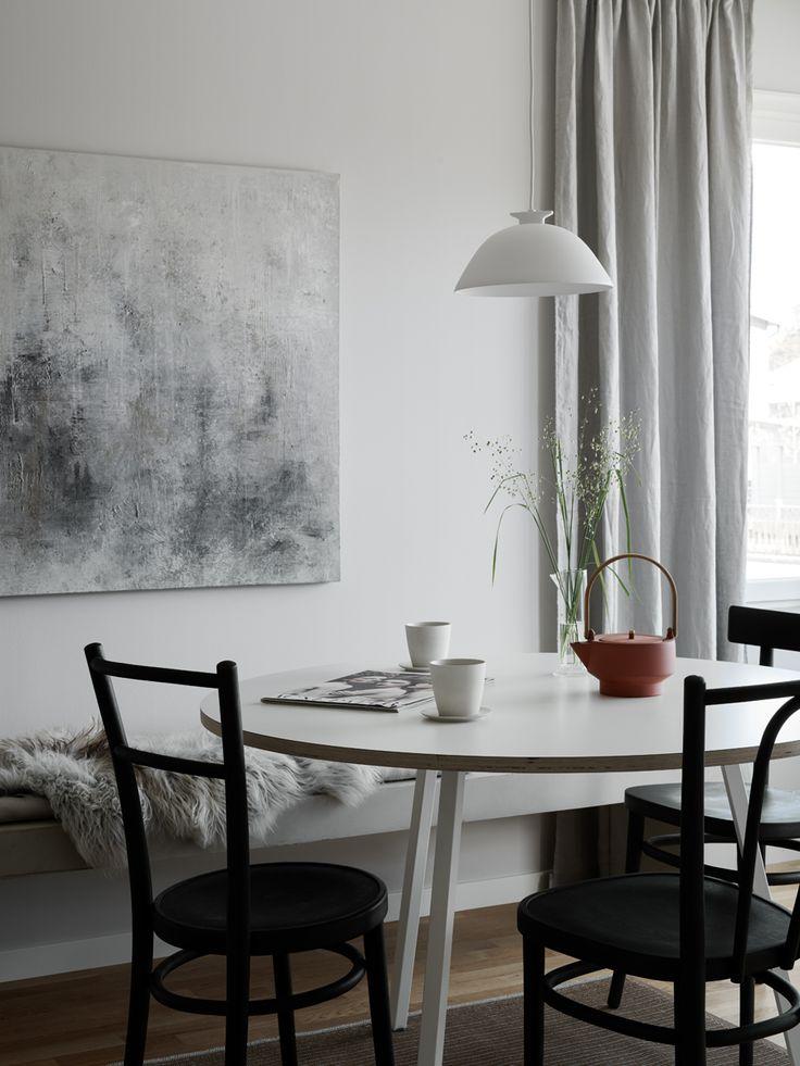 Här är bilderna på den färdiga inredningen av JMs visningshus för kommande småhusprojekt i Järvastaden.