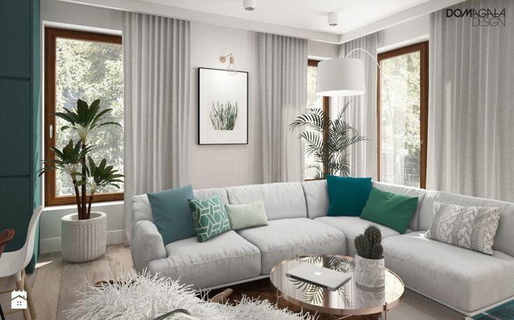 Zielono mi - Salon, styl vintage - zdjęcie od DOMagała Design
