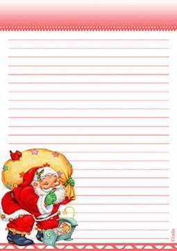 Letterine per Babbo Natale - stampabile gratuito