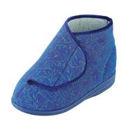 Women's Cosyfeet Blue Floral Slipper/Bootee  €39.61  These extra roomy wide fitting cosyfeet slippers are designed for people with swollen feet and ankles Fabric stretches gently to accommodate extra swelling