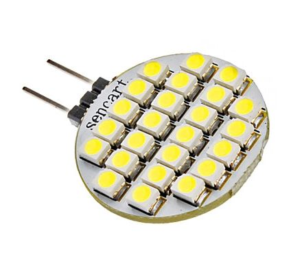 g4 15w 24x3528smd 120lm white light led bulb 12v