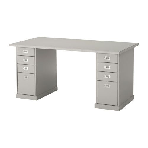 KLIMPEN Table, gray gray 150x75 cm