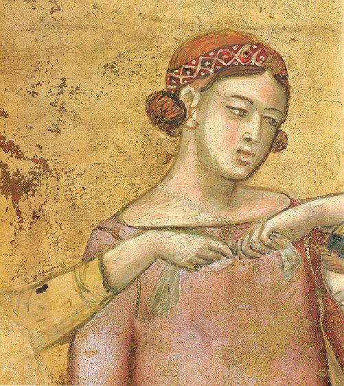 Ambrogio Lorenzetti - Danzatrici, particolare (Gli Effetti del Buono Governo in città) - affresco - 1338-1339 - Siena - Palazzo Pubblico, Sala dei Nove o Sala della Pace