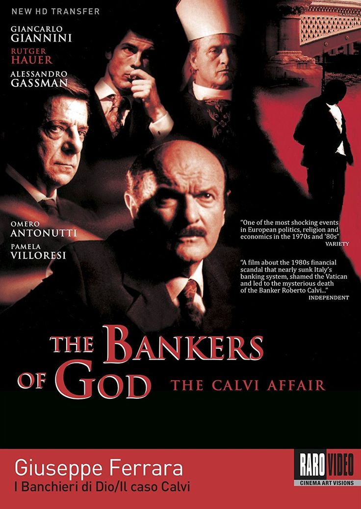 """I banchieri di Dio - Il caso Calvi"" (2002); regia: Giuseppe Ferrara. Titolo inglese: ""The Bankers of God: The Calvi Affair"""