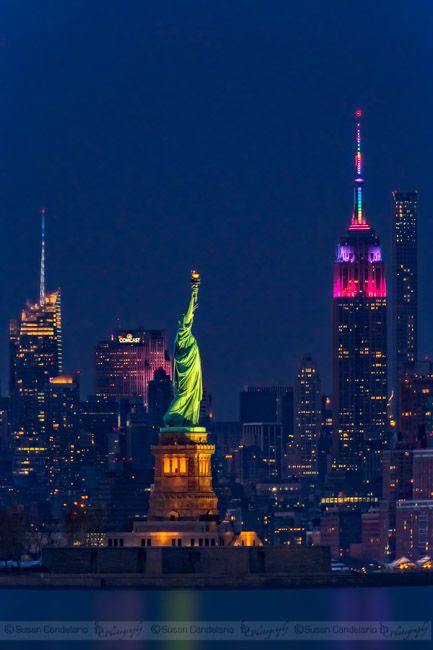 Empire State And Stature Of Liberty by Susan Cande…