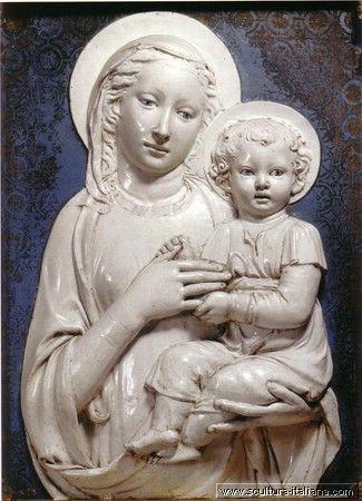 Luca Della Robbia - Madonna col Bambino (Firenze, Museo Nazionale del Bargello) .jpg