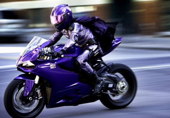 Kick-Ass 2 - Hit Girl on Ducati 1199 Panigale
