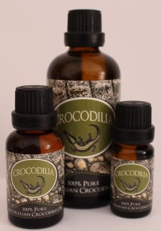 Crocodilia's Crocodile Oil is rich in Omegs 3, 6 & 9 and very high in anti-bacterial properties. Used for centuries for many skin ailments including minor burns & scarring, psoriasis, eczema & dermatitis, acne, sunburn relief and removes the itch from sandfly, mosquito & midgie bites. www.crocodilia.com.au