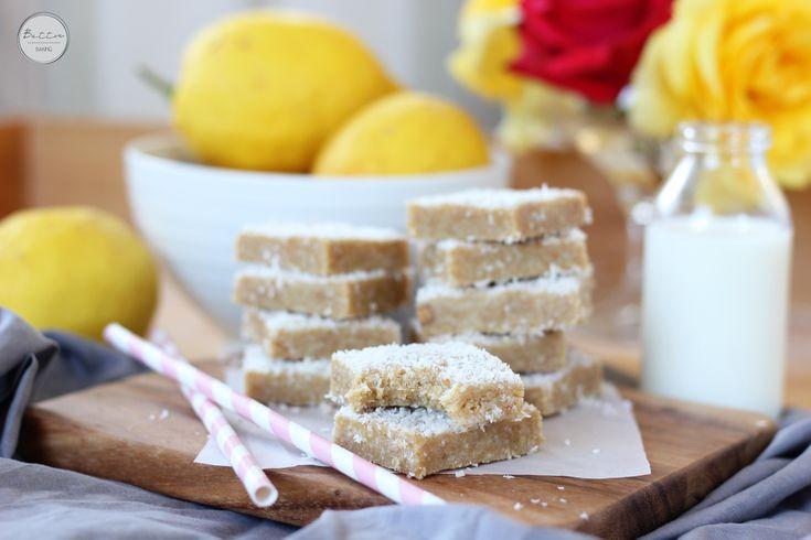 No bake lemon coconut bars