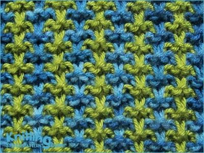 The slip stitch pattern is easy to remember and even simpler to knit. No purling necessary!