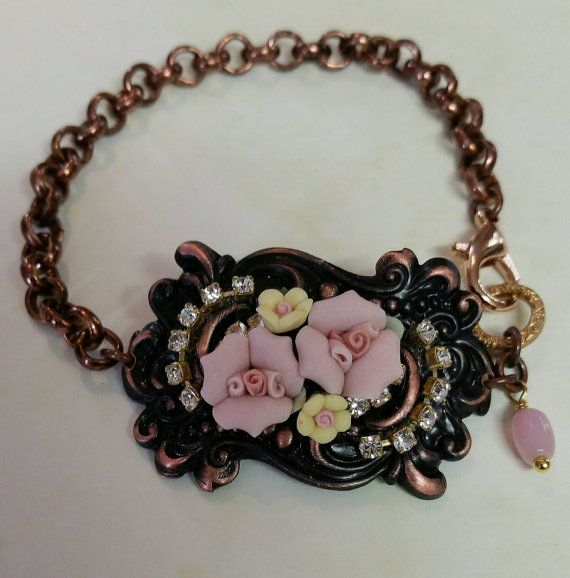 Check out this item in my Etsy shop https://www.etsy.com/au/listing/259976383/vintage-inspired-victorian-cuff-bracelet