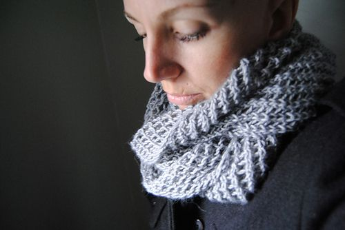 C A P T U R E - Cowl design by Lisa Mutch -   This cowl is knit in the round using large needles, luxurious yarn, and a simple openwork stitch pattern. The resulting net-like fabric is gorgeously soft, stylish and versatile. http://www.ravelry.com/patterns/library/capture