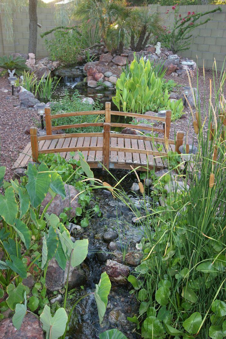 Johnson by the pond gnome bridges pinterest ponds for Koi pond hiding places