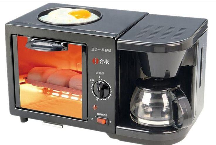 3 in 1 Professional genuine triple multifunction machine Breakfast maker fried eggs / toast / coffee machine