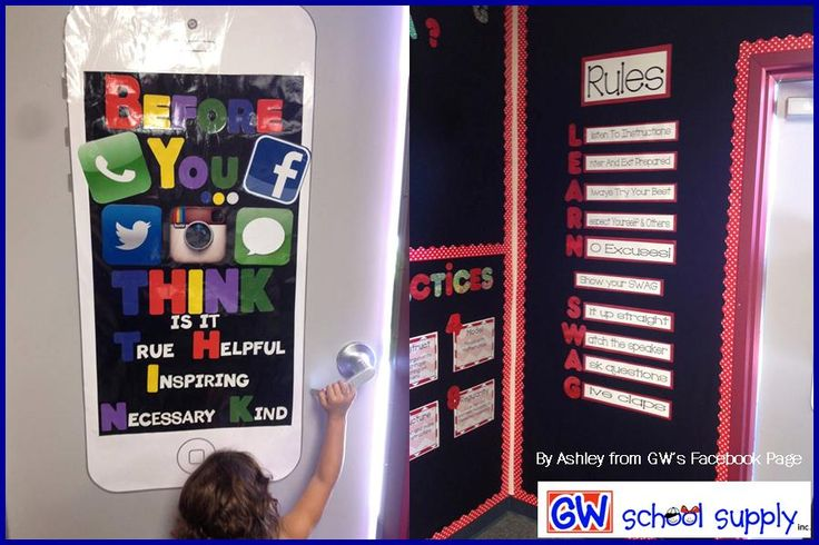 "Use the acronym ""LEARN SWAG"" to engage students in classroom rules.  Help kids to stop and ""THINK"" with this acronym."
