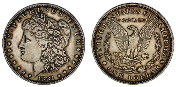 1 SILVER US DOLLAR PHILADELPHIA /1 DÓLAR MORGAN FILADELFIA. 1881. XF/EBC. BONITA