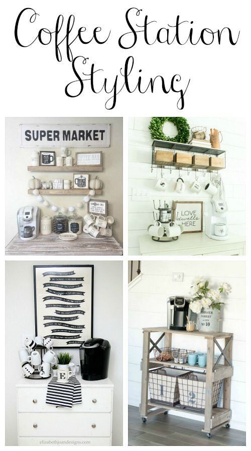 Awesome ideas for styling a coffee station