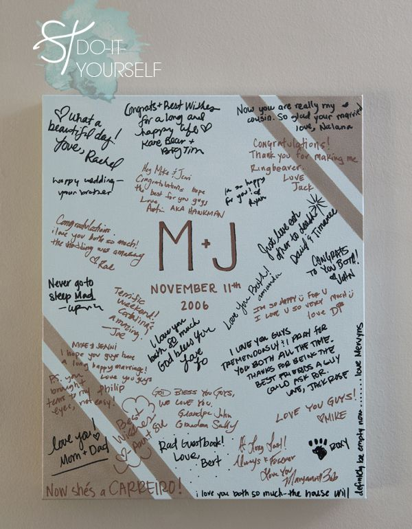 What a great idea Canvas Guestbook. this idea i think would go well for graduation party , baby shower or 50th  wedding anniversary