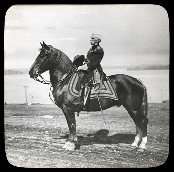 Joshua Chamberlain on horseback - Portland, Maine