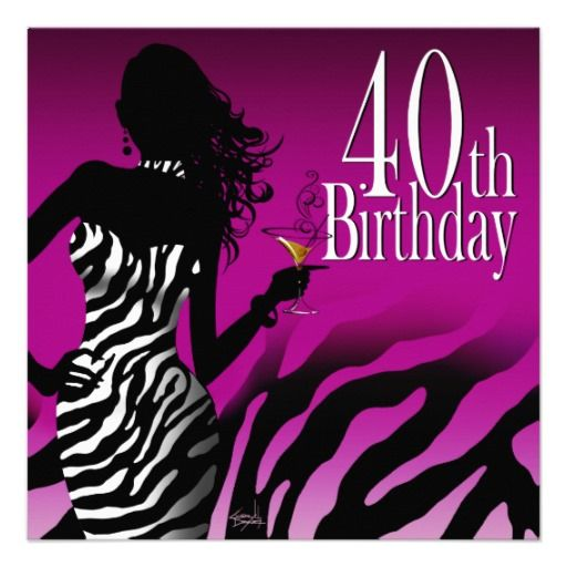 17 Best images about 40th Birthday Party Invitations on Pinterest ...