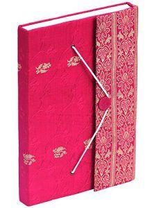 SouvNear 26.4 cm Soie Sari Poésie Journal avec 200 Pages Poètes Carnet Ferraille Carnet / Voyage / journal quotidien de Bureau Personnels…