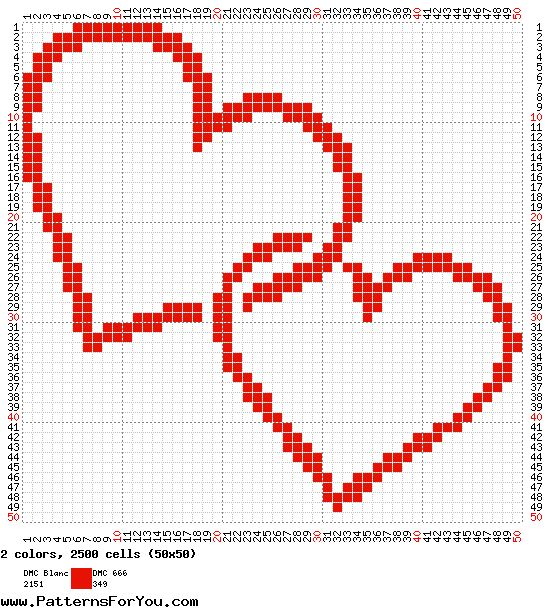 Cross Stitch Craze: Free Fun Easy Heart Cross Stitch Patterns
