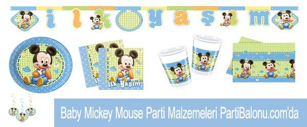 1 yaş baby mickey mouse doğum günü