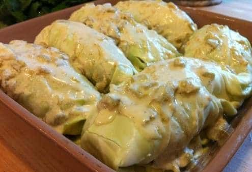 ►♥◄ Low carb cabbage enchiladas and tacos: Paleo Cabbage Enchiladas Recipe, Cabbage Tacos. Easy low carb meals Grain Brain Diet ♥ Wheat Belly Recipes ►♥◄ BONUS link to Most Popular Pinterest posted Gluten free enchiladas #carbswitch carbswitch.com