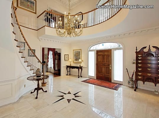 Luxury Home Magazine Washington D.C. | Maryland | Northern Virginia #Luxury #Homes #Staircase #Stairs #Entry #Entryway #HomeEntries