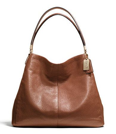 Brown Coach Madison leather shoulder bag
