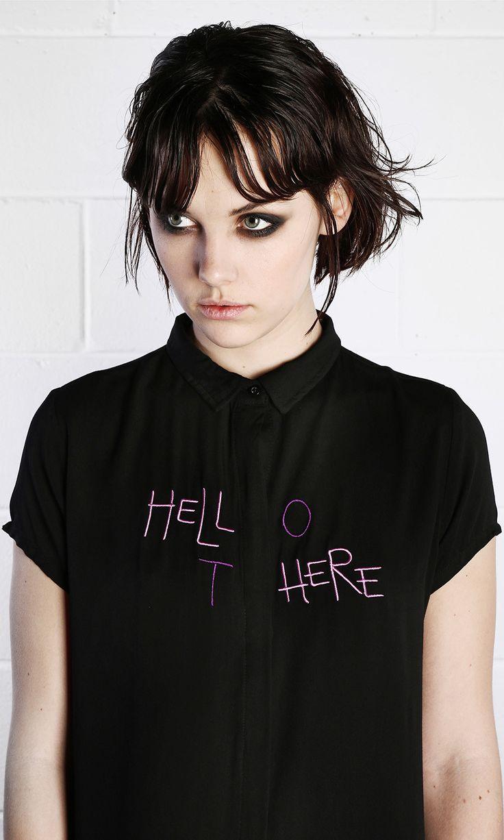 Hello There Shirt #disturbiaclothing disturbia metal silver alien goth occult grunge alternative punk