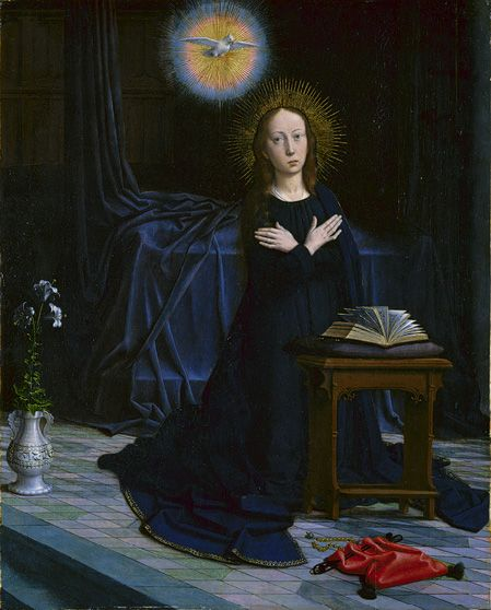 The Annunciation, parts of a polyptych, 1506  Gerard David (Netherlandish, ca. 1455–1523)  Oil on wood