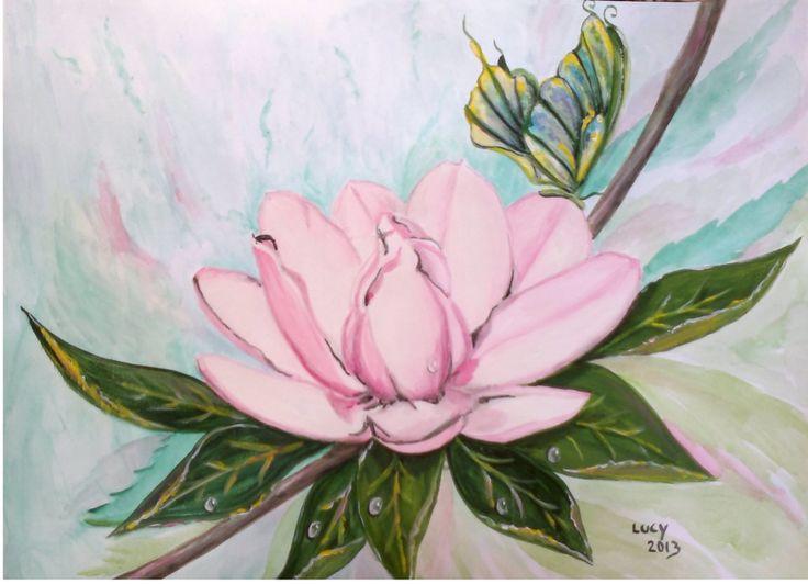 """""""Magnolia"""" di Luciana Giaccaglia Acrilico"""