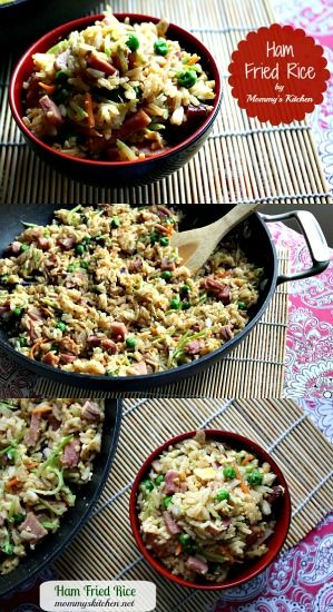 Ham Fried Rice!!!!! Perfect for all that leftover Christmas Ham!! #leftovers #ham #friedrice