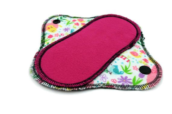 "Set of 3 Petite Reusable Cotton Flannel Panty Liners Petite Size 6.5"" by 3"" at widest part (2.5 at center) This Set of Reusable Panty Liners is a must have for your Cloth Pad stash! These Panty Liners are super thin and perfect for everyday use or very light flow. Super soft and comfy!"